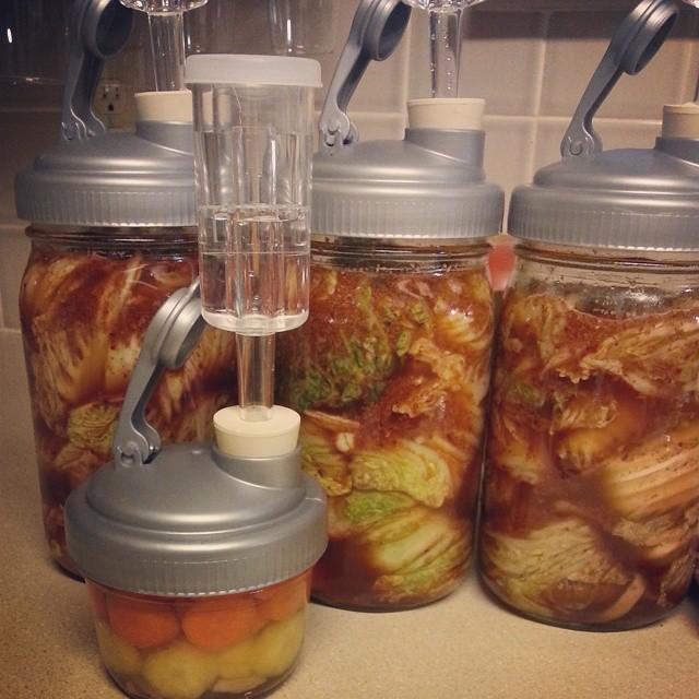 3 jars of kimchi