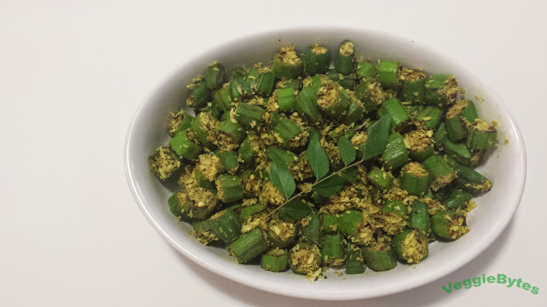 South Indian Coconut Okra