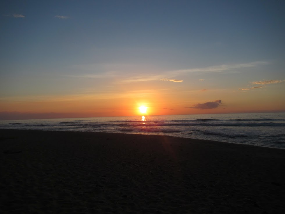 Sunset on Miloli'i Beach