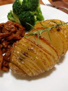 Hasselback Potatoes and BBQ Butler Curls