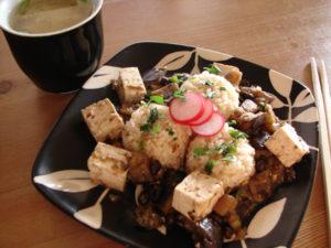 Black Bean Eggplant Tofu