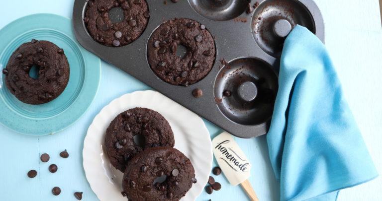 Vegan Double Chocolate Vegan Donuts