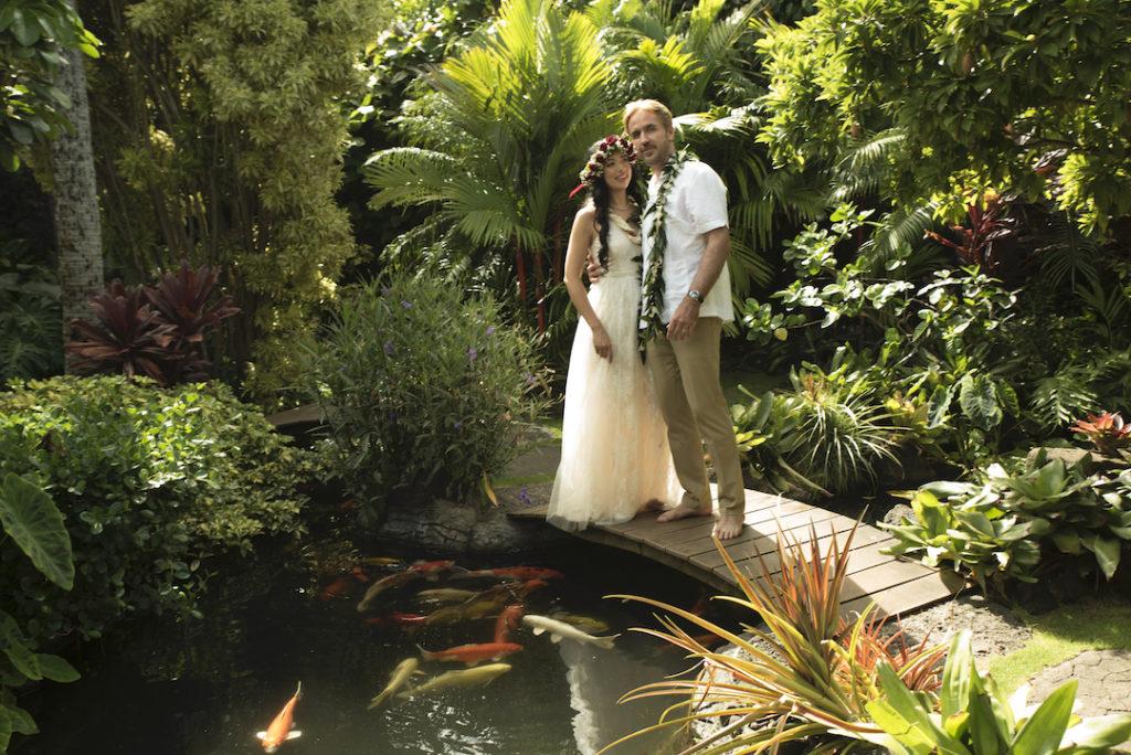 Koi Pond at Pukalani Falls Garden