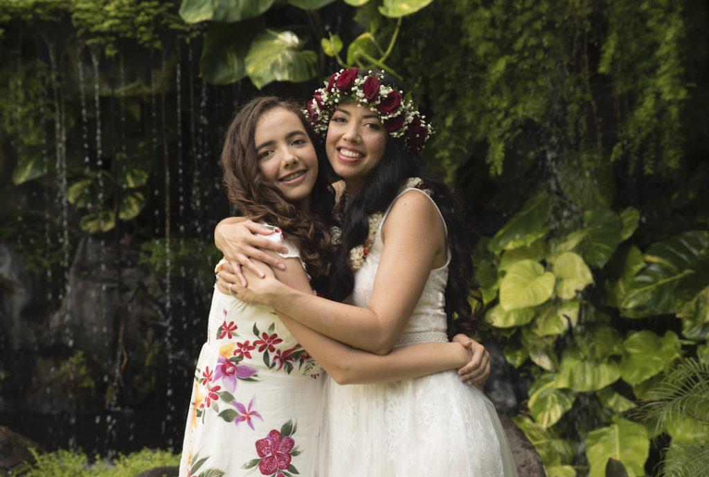 Hugs at Pukalani Falls Garden