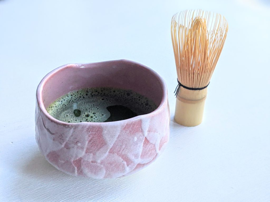 Pink Matcha Bowl and Chasen made in Japan