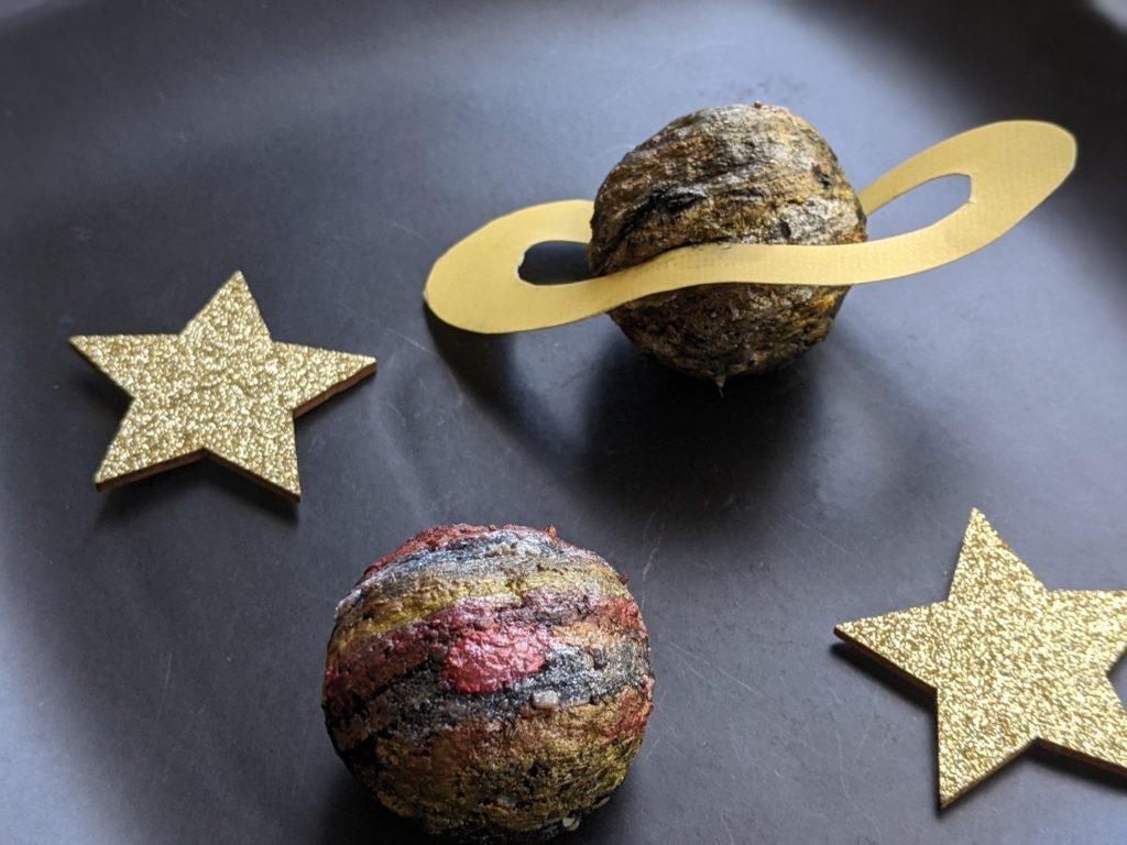 Jupiter and Saturn Space Balls