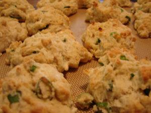 Vegan Scallion Biscuits
