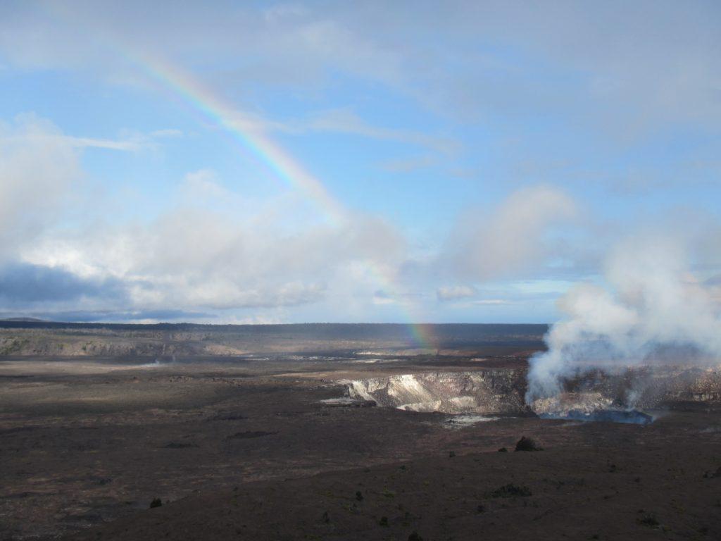 View of Kilauea Vegan Big Island eats 2021
