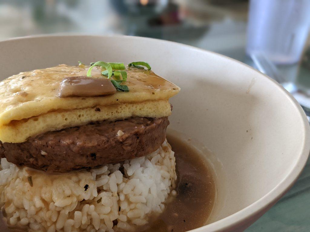 Vegan Loco Moco at Vibe in Hilo, HI Vegan Big Island eats